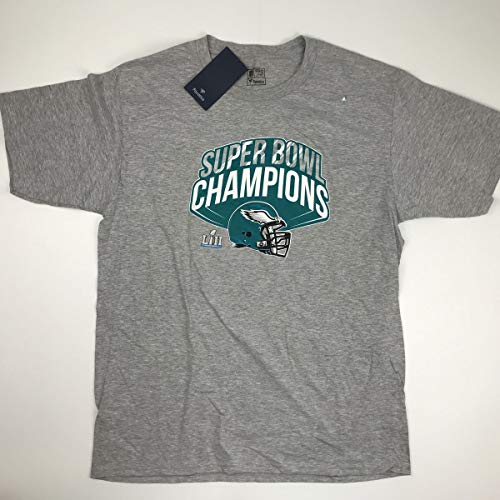 New Officially Licensed Philadelphia Eagles Grey Super Bowl LII Champs T-Shirt Size Mens XL Extra Large