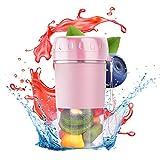 accieey frullatore portatile, 300ml mini frullatori per frullati e frullati, tazza per succo elettrico usb, frullatore spremiagrumi, per frutta e verdura pink