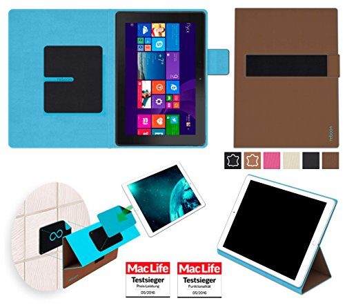 reboon Hülle für Dell Venue 10 Pro LTE Tasche Cover Case Bumper | in Braun | Testsieger