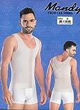 Fajas Mandy Colombian Girdle for Men Slimming Body Shaper Fajas para Hombres 4 HookRef 5062 (Black/Negro, M)