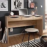 FineBuy Schreibtisch 120 cm | Design Büro-Tisch in Sonoma Eiche | Moderner Computer-Tisch mit 3...