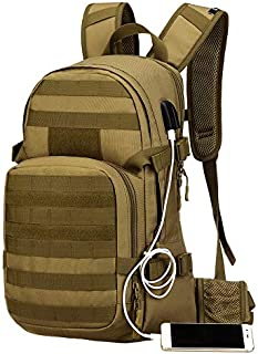 CamGo 25LTactical MOLLE Backpack, Cycling Hiking Daypack