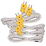 szzijia 5pcs 3M K Type Mini-Connector Thermocouple Temperature Probe Sensor Measure Range -50~700°C