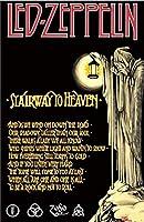 キャラクターポスター、映画ポスター、LED ZEPPELIN レッドツェッペリン (デビュー50周年記念) - Stairway To Heaven ポスター A3サイズ(42x30cm)