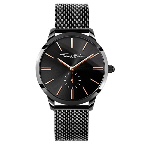 Thomas Sabo Reloj para mujer Glam Spirit Negro WA0277-202-203-33 mm