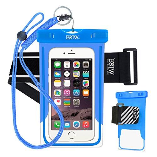 EOTW Custodia impermeabile IPX8 universale per sport acquatici per iPhone XS MAX XR 8 7 6 Plus/BQ Aquaris/Huawei P30 P20 P10/Samsung S8 S7 e altri cellulari fino a 7 pollici