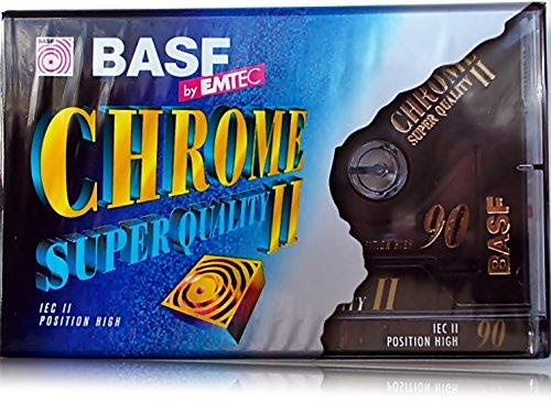 Audiokassetten BASF 90 min CHROME SUPER QUALITY II Leerkassetten Cassetten