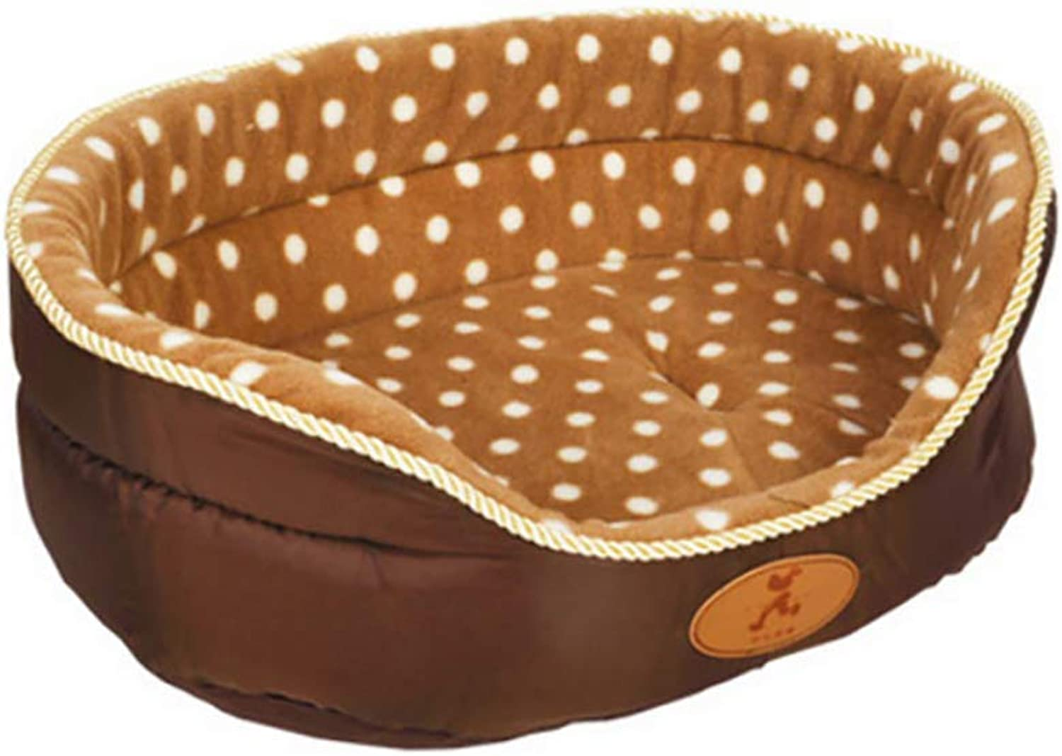 Deluxe Cozy Pet Bed Ultra Soft Comfortable Dog Bed, Washable Short Plush Cushion Warm Luxury Pet Basket,A,S