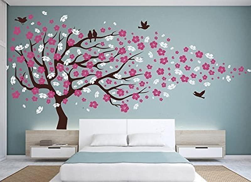 Vinyl Wall Decal Cherry Blossom Flower Tree Wall Decal Decals Child Wall Sticker Stickers Flowers Baby Girl Room Decor Children Kids Dk20 By Happyshopgoods