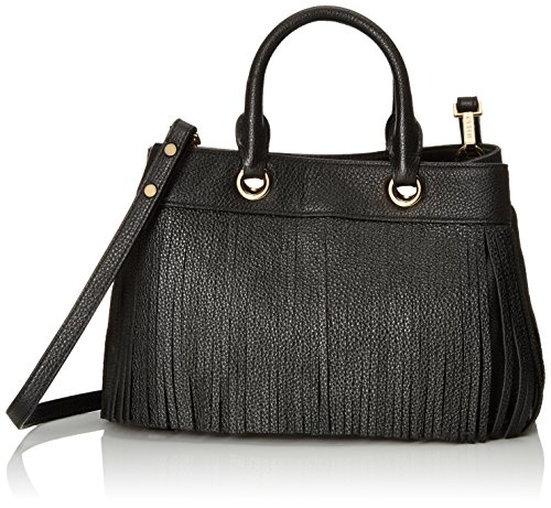 MILLY Essex Fringe Small Tote, Black