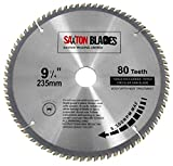Saxton TCT23580T - Lama per sega circolare TCT per legno, 235 mm x 30 mm foro x 80T, per Bosch, Dewalt, Makita