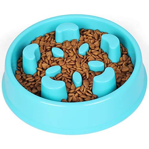 JASGOOD Slow Feeder Dog Bowl-Stop Bloat Dog Bowl for Fast Easters,Slow Eating Dog Bowl