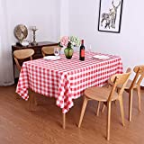 DJUX Algodón y Lino Simple y Generoso mobiliario para el hogar Mantel Occidental Restaurante Restaurante paño Rectangular de Picnic Mantel Impermeable y a Prueba de Aceite 120x160cm