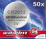 50 x Wilhelm Lithium Knopfzellen CR2032 Die Batterien werden in industrieller Großverpackung geliefert, sind jedoch kurzschlusssicher verpackt Technische Daten: Höhe: 3,2mm Duechmesser: 20mm Spannung: 3V Alternative Bezeichnungen für die Größe: CR-20...