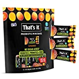 That's it. (15 Count) Mango Mini Probiotic Fruit Bar w/Gift Box, Immunity Booster & Support, Active Cultures to Promote Healthy Gut & Digestion 100% All Natural 2 Ingredients Paleo Allergen Friendly