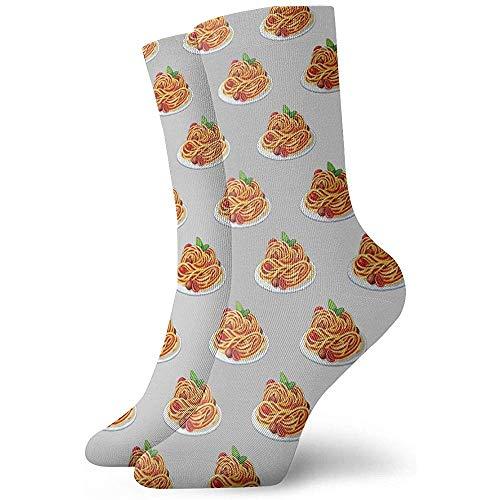 NA man en vrouw spaghetti Italiaans eten kunst gedrukt grappige nieuwigheid nonchalant sokken
