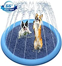 Raxurt Dog Pool, 55 Inch Splash Sprinkler Pad for Dogs Thickened Durable Upgrade Bath Pool Pet Kids Summer Outdoor Water Toys, XL