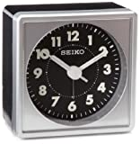 "Seiko 2"" Square, Compact & Lightweight Bedside Alarm Clock"