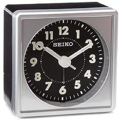 Seiko 2 Square, Compact & Lightweight Bedside Alarm Clock