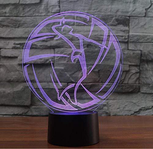 Speel volleybal 3D nachtlampjes illusies 7 kleurveranderende LED USB tafellamp beste nachtlampje cadeau voor wooncultuur