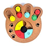 TOPCOMWW Natural Food Treated Wooden Paw Shape Pet Dog Cat Iq Training Toys Educational Feeding Game...
