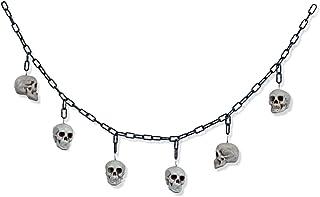 Halloween Girlande Totenkopf weiß Party Dekoration Hänge Deko Feier Grusel Pirat