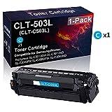 Cartuccia toner compatibile CLT-503L CLT-C503L per stampante laser (ciano) utilizzata per stampanti Samsung ProXpress SL-C3010ND SL-C3060FR SL-C3060FW (alta resa)