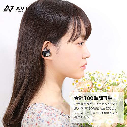 AVIOT日本のオーディオメーカーBluetoothイヤホン完全ワイヤレスTE-D01d(ブラック)