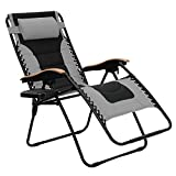 #5. PHI VILLA Oversize XL Padded Zero Gravity Chair