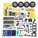 PeleusTech 510Pcs Wheel Beams Pin Parts DIY Technic Parts for Lego Technic, Technic Car Set