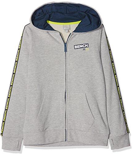 Bench Jungen Branded Tape Hoody Sweat Sweatjacke, Grau (Grey Marl Ma1023), 164 (Herstellergröße: 13-14)