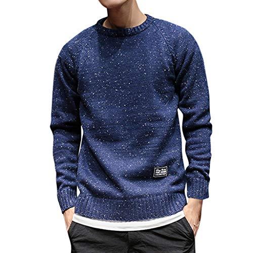 SOLELING Pullover da uomo con collo alto manica lunga slim fit | Pullover lavorato a maglia slim da uomo nero - Felpa | Maglione dolcevita - maglione estivo
