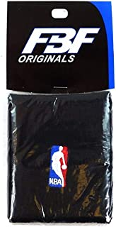FBF Originals (1) Pair of Official NBA Dribbler Authentic On-Court Black Wristbands