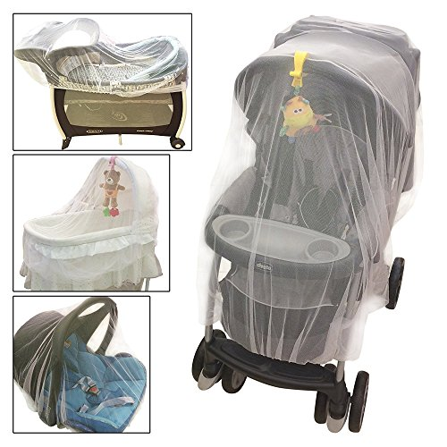 Croc n frog Mosquito Net for Baby Stroller Crib Pack and Play Bassinet Playpen | Mosquiteros para Cunas De Bebes | Large Elastic and Breathable