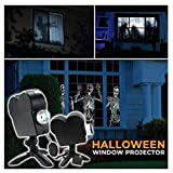 Ramendy Movies Window, Window Wonderland Christmas Halloween Movie Projector Kit 18 Modes (A)