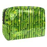 Neceser de Maquillaje Estuche Escolar para Cosméticos Bolsa de Aseo Grande Planta Verde Oriental de bambú