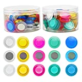YEXPRESS 60 Pack Round Magnets, Strong Fridge Magnet, Dry Erase Board Magnets for Schools, Home Offices Supplies, Assorted Color