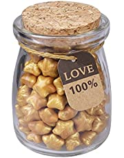Healifty 120 pcs Sellado de Cuentas de Cera con Forma de Estrella en una Botella para Sello de Cera Estampa de Sobres privados Carta de franqueo (Dorado)