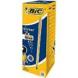 BIC Cristal Shine bolígrafos 921340, Caja de 20 Unidades, Tinta Azul