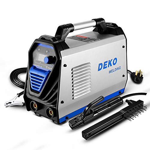 DEKOPRO 200Amp MMA Welder, 110/220V Stick Welder Dual Voltage ARC Welders Portable Welding Machine Electrode Holder,Work Clamp, Input Power Adapter...