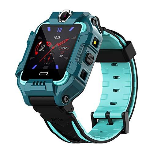 QAK Kids Y99 Smart Watch 4G Kids GPS Ubicación Pulsera Dual Camera Video Call Pulsera Deportes Bluetooth Impermeable Reloj para Niños (Para Android Ios),B