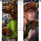 """Scooby and Shaggy Art - Tende oscuranti per bambini, con occhielli, termiche, isolate, oscuranti, Poliestere, Multi, 2 panel(36""""W x 96""""L W92cmxL245cm)"""