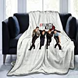 IkedaEriko Flannel Fleece Blanket Big Time Rush BTR Warm Air-Conditioning Throw Blanket for Bed Couch Chair Bedroom 50'x40'