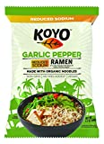 Koyo Reduced Sodium Garlic and Pepper Ramen Made with Organic Noodles 2.1, pepper,garlic, 25.2 Ounce, (Pack of 12)