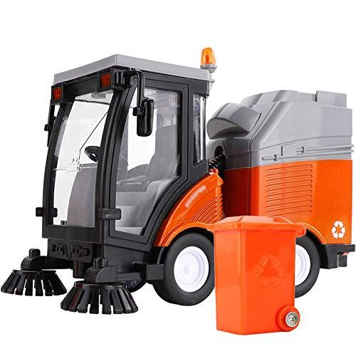 Xolye 1.16 Simulation Inertial Kehrmaschine LKW-Legierung Technik Trash Dump Truck Modell Inertia Metall Sturz- Kinderspielzeug-Auto-Musik-Ton und Licht-Rückseiten-Spielzeug-Auto