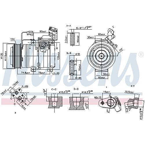 Nissens 89586Kompressor für Klimaanlage