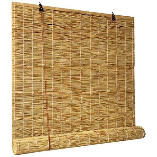 CCFCF - Cortina de bambú enrollable para terraza, enrollable de bambú, para ventanas / exteriores / interior/pérgola, b, 120*250cm/47*99 in