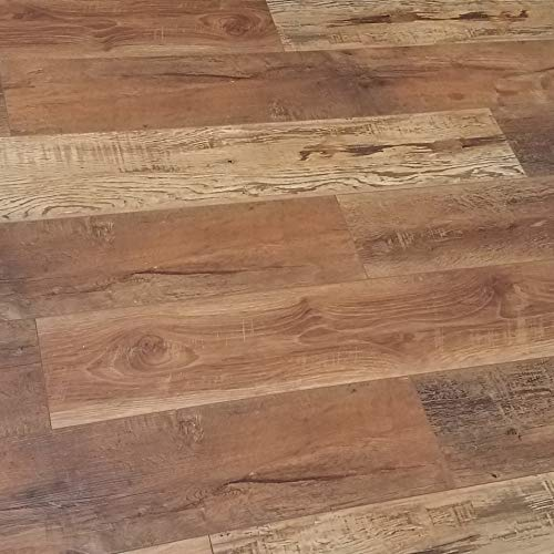 Turtle Bay Floors Waterproof Click WPC Flooring - Rich, Reclaimed Barnwood-Look Floating Floor - Choose from 2 Colors/Grades (Sample, Split Rail)