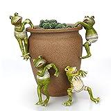 SaltshIII Grenouilles Grimpantes De Dessin Animé - Figurines Miniatures Créatives De Grenouille De Grenouille De Mini-Grenouille pour L'Ornement De Bureau à La Maison 4pcs (4pcs)