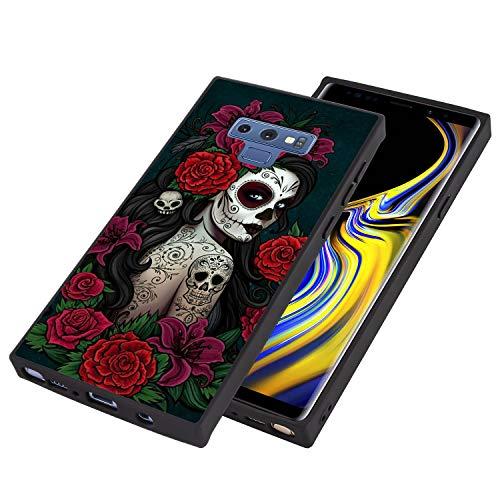Sugar Skull Girl Square Corner Case for Galaxy Note 9 (2018)